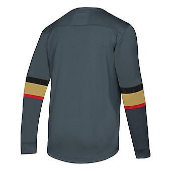 Adidas Nhl Vegas Golden Knights Platinum Ls Jersey Tee