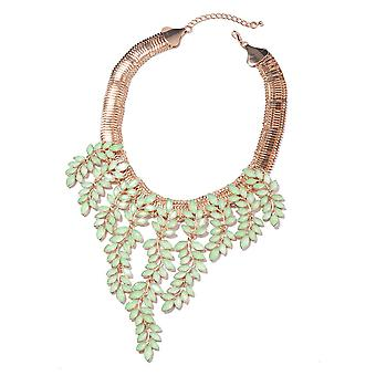 Simulated Green Colour Resin Collar Necklace for Women 17