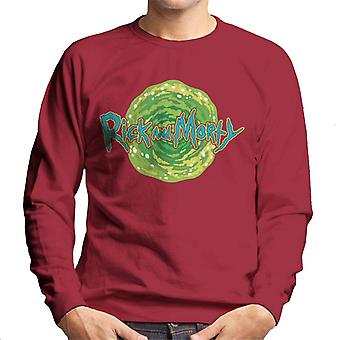 Rick and Morty Logo Against Portal Men's Sweatshirt