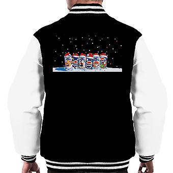 Pepsi Retro 90s Christmas Cans Men's Varsity Jacket