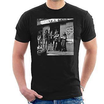 T-Shirt pour hommes affiche 1976 ACDC Photo Shoot