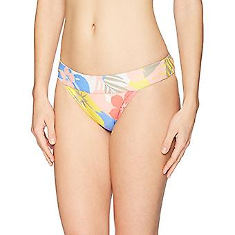 Brand - Mae Women's Swimwear Banded Cheeky Bikini Bottom,Pastel Floral...