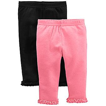 Simple Joys af Carter's Baby Girls' 4-Pack Pant, Navy, Gray Dot, Pink, Floral...