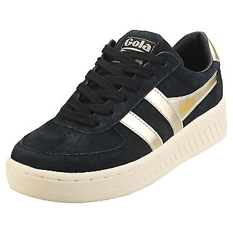 Gola Grandslam Pearl Womens Platform Trainers in Black