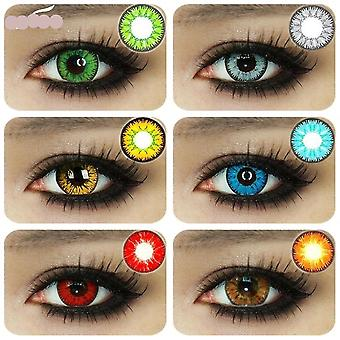 Beautiful Pupil Eye Cosmetic Colorful Contact Lenses, Halloween Cosplay Lenses