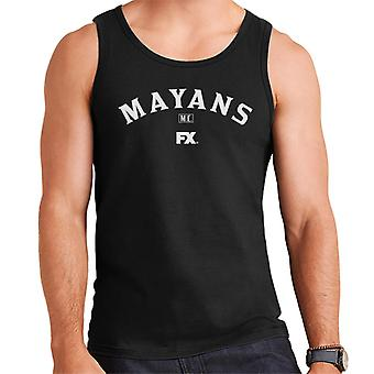 Mayans M.C. Motorcycle Club Logo White Men's Vest