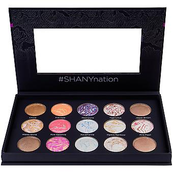 SHANY Hidden Gems 15-Color Face & Body Baked Makeup Palette - 9 Gebakken Highlighters, 3 Gebakken Blushes en 3 gebakken bronzers - Gebakken Face Powder Kit