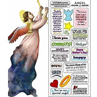 Stationery - Angel - Card and Sticker Sheet New 0983