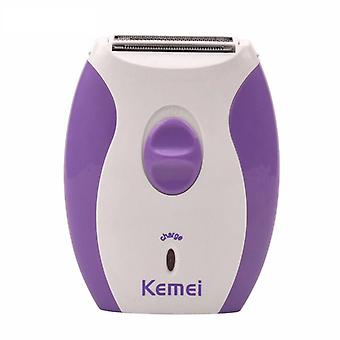 Kemei electric women shaver razor trimmer rechargeable