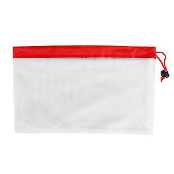 Polyester återanvändbara Mesh Frukt väskor 7.87x12.20inch Liten