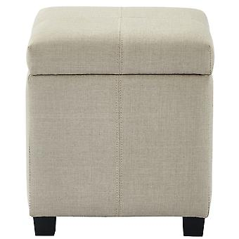 Emily Fabric Storage Ottoman - Grey Blue