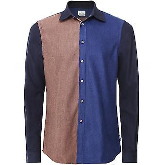 Paul Smith skräddarsydd passform borstad bomull lapptäcke skjorta