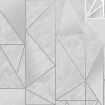Charon Geometric Wallpaper Grey/Silver Holden 91140