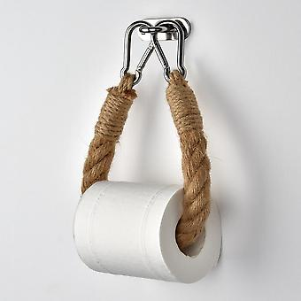 Retro Kitchen Roll Paper Accessory Towel, Hanging Rope For Bathroom Decor
