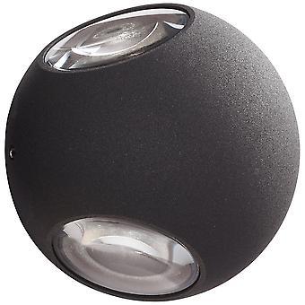 AEG Lampa Gus LED Utomhus Vägglampa 3flg antracit   3x 3W LED integrerad (SMD-chip), (144lm, 3000K)   Skala A++ till E  