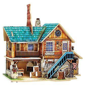 Holz Miniatur Global Style Haus montieren Modell Gebäude Kits Spielzeug