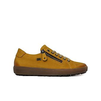 Remonte D4400-68 Yellow Leather Womens Casual Trainers