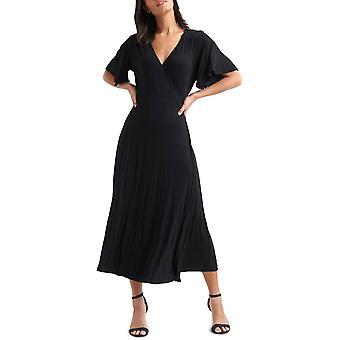 ラッキーブランド |フラッタースリーブラップドレス