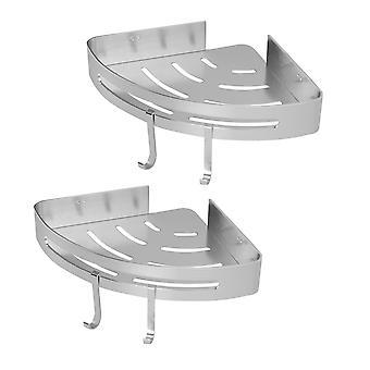 Adhesive Corner Shower Caddy | M&W 2 Tier