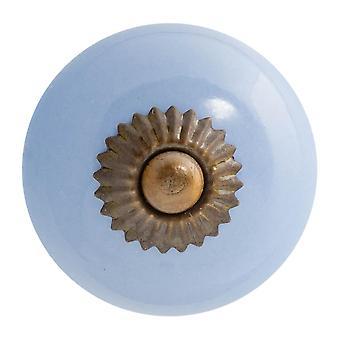 Keramische deurknop kast lade luxe handvat, blauw - x1