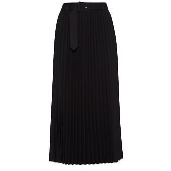 b.young Maja Black Pleated Skirt