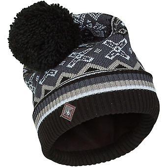 Spyder BELLA Naisten neule Bommel Winter Ski Hat Musta