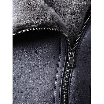 Allerby II Sheepskin Aviator Jacket in Charcoal