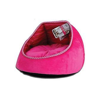 القط السرير الصوف الوردي موناكو صالة الأريكة كهف أفخم وسادة الحيوانات الأليفة