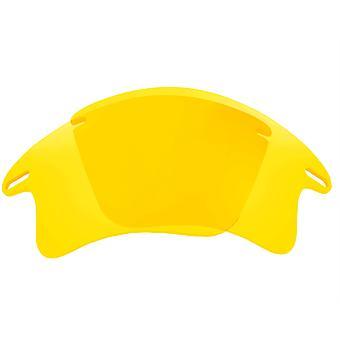 عدسات استبدال ل Oakley سريع سترة XL النظارات الشمسية المضادة للخدش الأصفر