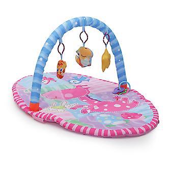 Moni Play Bow Happy Space, aktivitets Center, kravle tæppe, legetøj fra fødslen