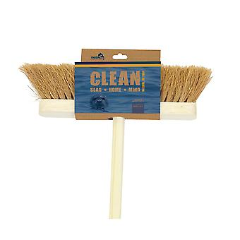 """Marine Conservation Society 12"""" Soft Natural Coco Wooden Broom"""