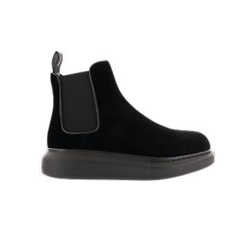 Alexander McQueen H.Boot Fabric.S.Rubb Ofelia/El Black 650798W4KMG1000 shoe
