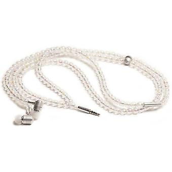 handcandy The COURTNEY LadyBuds Stereo Headphone Necklace - Iridescent/AB Clear