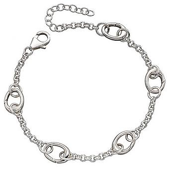 Anfänge fünf Link Charm Armband - Silber