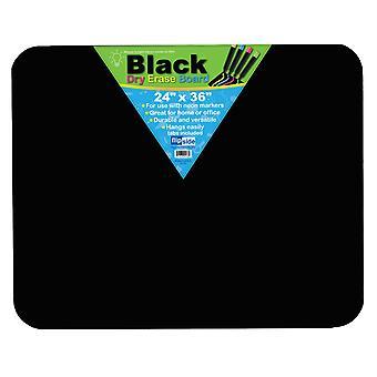 "Black Dry Erase Board, 24"" X 36"""