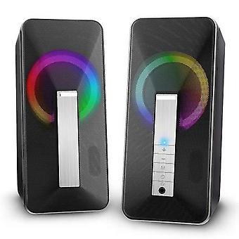 Elegiant Computerlautsprecher, 10w verdrahtet und Bluetooth-Lautsprecher Multimedia 2.0 Lautsprecher mit verbessertem ste
