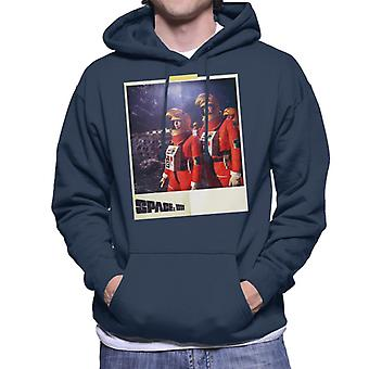Space 1999 Helena And John In Orange Space Suits Men's Hooded Sweatshirt