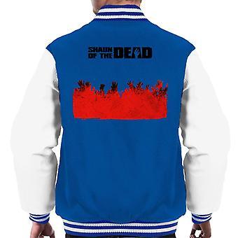 Shaun of the Dead Zombie Hands Silhouette Men's Varsity Jacket