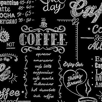 SFE Coffee Shop Black & White Wallpaper