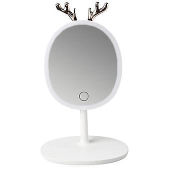 قاد Lingantler مرآة ماكياج مع ضوء ملء ملابس النوم الخفيفة وتخزين الملحقات المحمولة