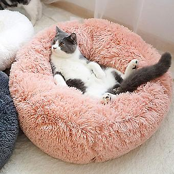 LONTG Calming Cat Bed Dog Bed Soft Plush Donut Pet Bed Cushion Cuddle Cat Bed Cozy Pet Nest Pet Sofa