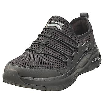 Skechers Arch Fit Lucky Thoughts Femmes Casual Trainers en noir noir