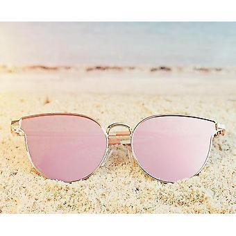 Katzenaugen polarisierte Sonnenbrille Uv400 Metall Rahmen Vintage