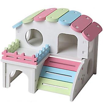 Casa de Dormir do Ninho do Hamster de Madeira