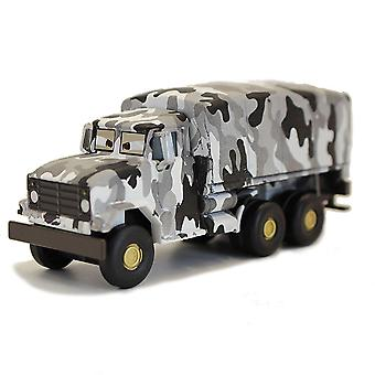 Carros Snowfield Truck Alloy Kids's Cartoon Toy Car Model
