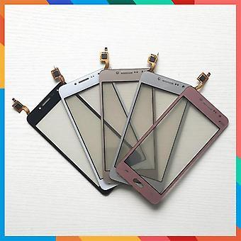 50pcs / الكثير عالية الجودة لمس الشاشة الرقمية الزجاج الأمامي لسامسونج غالاكسي J2