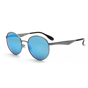 Ray-Ban Gunmetal verde oglindă ochelari de soare albastru RB3537-004/55-51