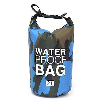 Outdoor Camouflage Waterproof Bag, Folding Swimming Storage Bag