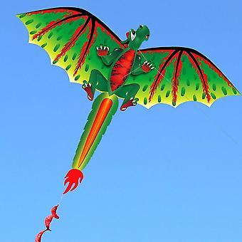 Aquilone drago cartone animato con aquiloni coda per adulti, bambini, parco sulla spiaggia all'aperto volare