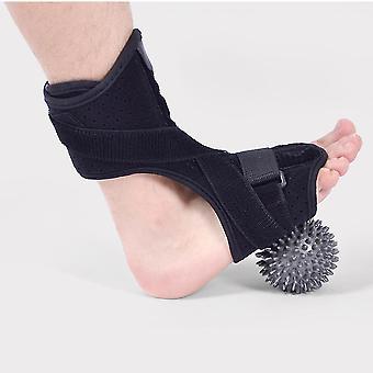 Einstellbare Fuß Tropfen Orthose Klammer Unterstützung Fußbogen Stoßdämpfer Verband mit stacheligen Massageball dünn889